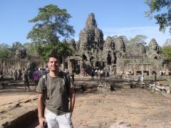 Me, the Bayon temple and heaps of Japanese tourists