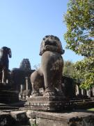 Proud lion protecting Bayon temple
