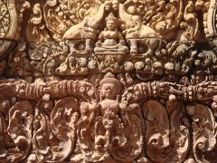 Astonishing ornaments are found all over Banteay Srei