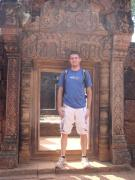 I'm 6 feet 2, way too tall for the doors at Banteay Srei