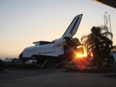 Space Shuttle replica on display.